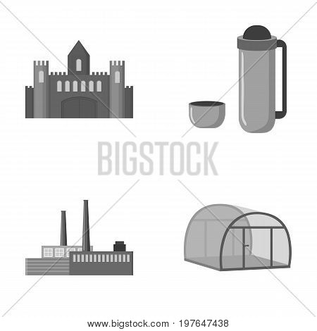 travel, oil refining and other  icon in cartoon style.food, agriculture icons in set collection.