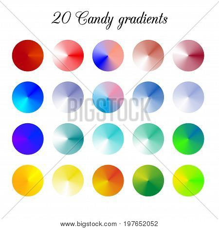 Candy Tone Color Shade Background, Colorful gradient meshes.