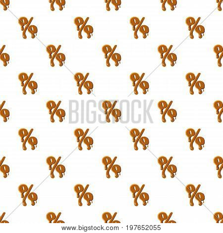 Percentage from caramel pattern seamless repeat in cartoon style vector illustration