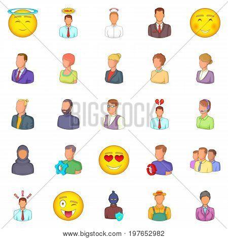 Public icons set. Cartoon set of 25 public vector icons for web isolated on white background