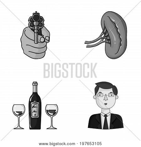 robbery, restaurant and other  icon in cartoon style.Medicine, financier icons in set collection.
