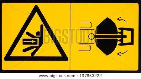 Vehicle Danger Warning Label