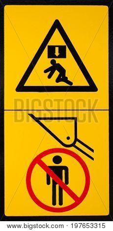 Vehicle Danger Warning Label 2