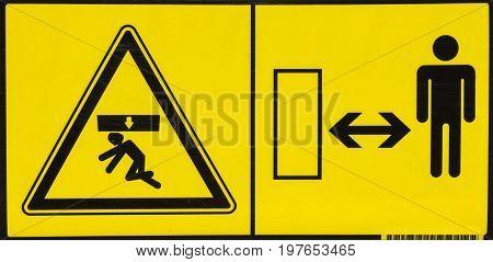 Vehicle Danger Warning Label 4