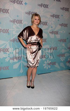 PASADENA, CA - JAN. 11:  Sarah Jones arrives at the FOX TCA Winter 2011 Party at Villa Sorriso on January 11, 2011 in Pasadena, CA