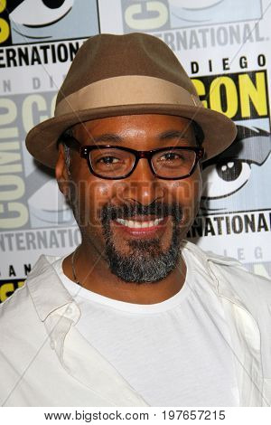 SAN DIEGO - July 22:  Jesse L. Martin  at Comic-Con Saturday 2017 at the Comic-Con International Convention on July 22, 2017 in San Diego, CA