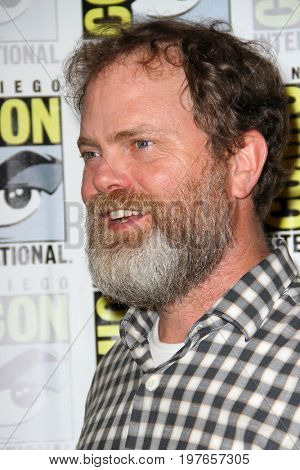 SAN DIEGO - July 22:  Rainn Wilson at Comic-Con Saturday 2017 at the Comic-Con International Convention on July 22, 2017 in San Diego, CA