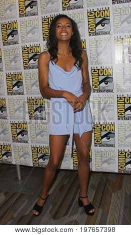 SAN DIEGO - July 22:  Maisie Richardson-Sellers at Comic-Con Saturday 2017 at the Comic-Con International Convention on July 22, 2017 in San Diego, CA