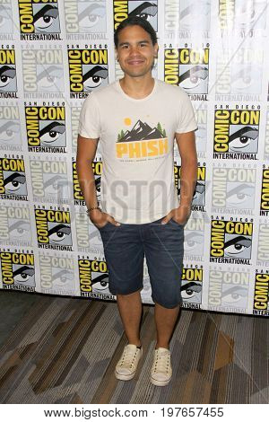 SAN DIEGO - July 22:  Carlos Valdes  at Comic-Con Saturday 2017 at the Comic-Con International Convention on July 22, 2017 in San Diego, CA
