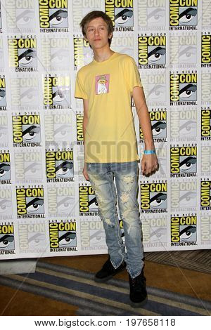 SAN DIEGO - July 22:  Percy Hynes White at Comic-Con Saturday 2017 at the Comic-Con International Convention on July 22, 2017 in San Diego, CA