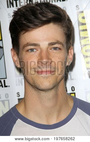 SAN DIEGO - July 22:  Grant Gustin at Comic-Con Saturday 2017 at the Comic-Con International Convention on July 22, 2017 in San Diego, CA