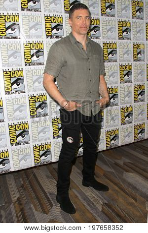 SAN DIEGO - July 21:  Anson Mount at Comic-Con Friday 2017 at the Comic-Con International Convention on July 21, 2017 in San Diego, CA