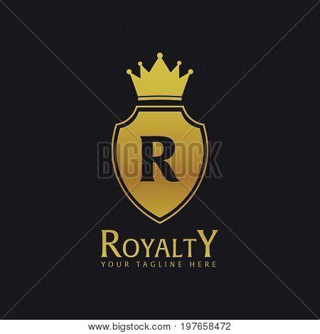 Royalty Hotel. Luxury Hotel Logo And Emblem. Vector Logo Illustration.