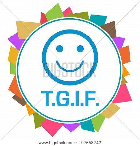 TGIF thank god its Friday concept image with text and related symbol.