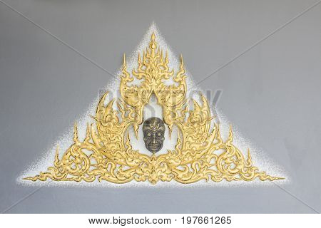 Relief art at the White temple named Wat Rong Khun  Chiang Rai, Thailand - April 20,2017 :