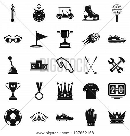 Prize icons set. Cartoon set of 25 prize vector icons for web isolated on white background