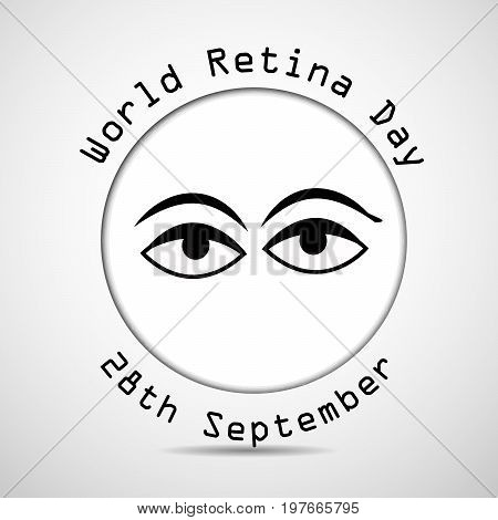 illustration of eyes with World Retina Day 28th SeptemberText on the occasion of World Retina Day