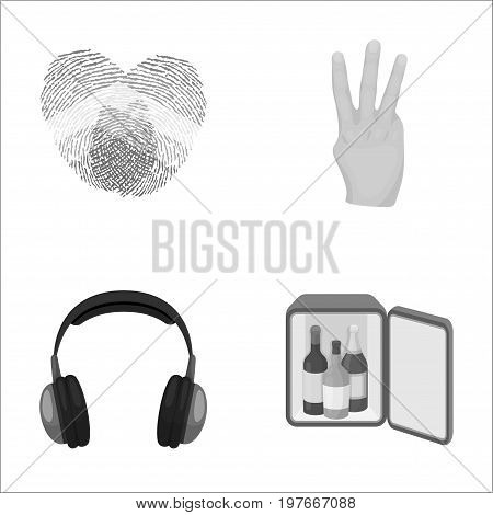 gay, music and other  icon in cartoon style.deafness, alcohol icons in set collection.