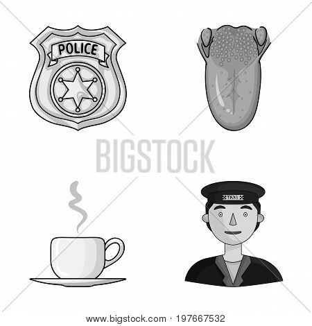guard, medicine and other  icon in cartoon style.food, profession icons in set collection.