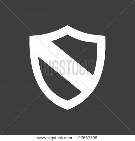 Protection shield icon on a dark background