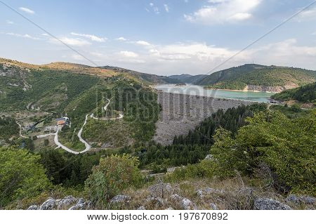 Uvac Hydro Dam And Reservoir With Power Station