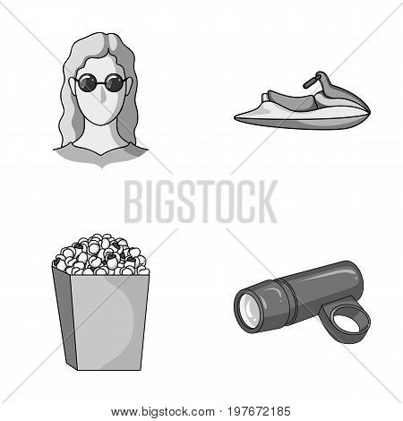 medicine, cinema and other  icon in cartoon style.transportation, sport icons in set collection.
