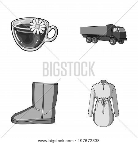 transport, shoes and other  icon in cartoon style.clothes, food icons in set collection.