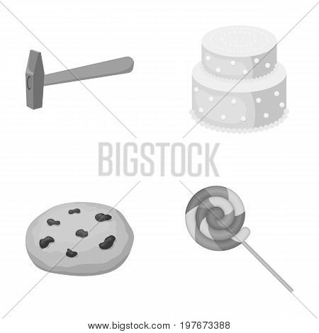 cooking, building, business and other  icon in monochrome style.wand, dessert, goodies, icons in set collection
