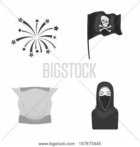 medicine, tourism, religion and other  icon in monochrome style.burqa, asian, entertainment icons in set collection.