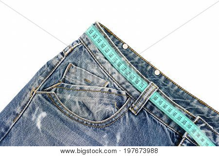 Jeans Belt Loops And Pocket In Close Up
