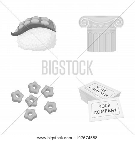 restaurant, history, industry and other  icon in monochrome style., paper, i restaurant, history, icons in set collection