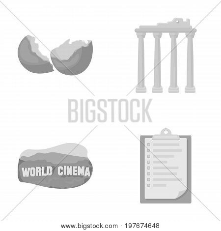 tourism, travel, ecology and other  icon in monochrome style.list, fastening, history icons in set collection.