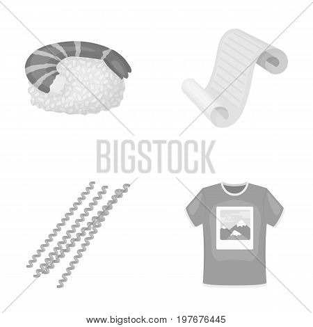 trade, restaurant, industry and other  icon in monochrome style. print, knitwear, textiles icons in set collection. poster