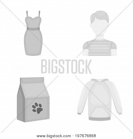 hairdresser, textiles, business and other  icon in monochrome style. raglan, clothing, Sports, icons in set collection