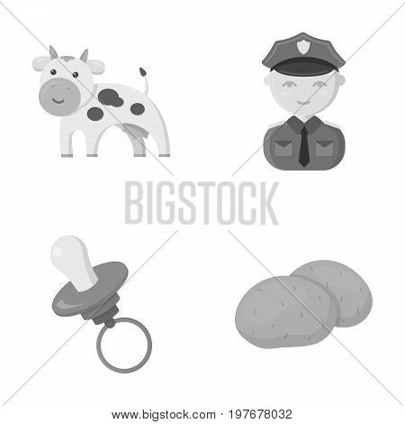 business, trade, ecology and other  icon in monochrome style.vegetables, food, starch, icons in set collection