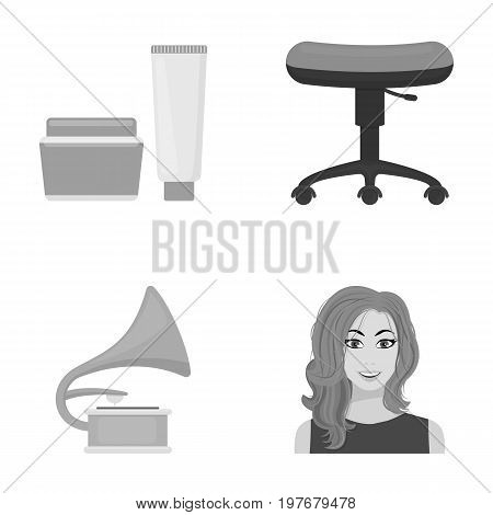 business, cosmetology, salon and other  icon in monochrome style.hairstyle, makeup, model, icons in set collection