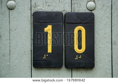 Door Number Sign Plate With Braille