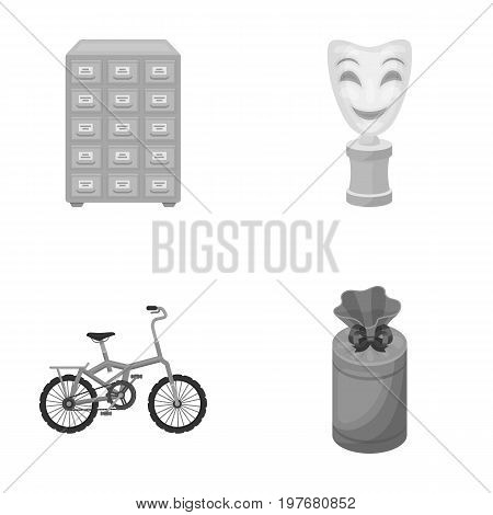 business, leisure, profession and other  icon in monochrome style.candy, gift, design, icons in set collection