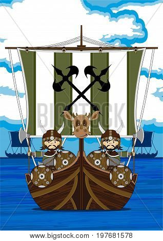 Vikings On Longship