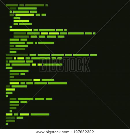Program Code Listing, Abstract Programming Background. Vector Illustration