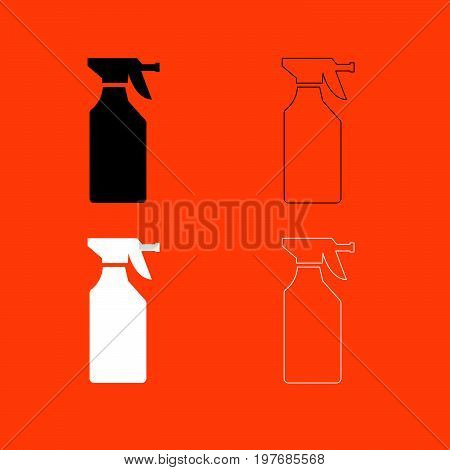 Household Chemicals  Black And White Set Icon .