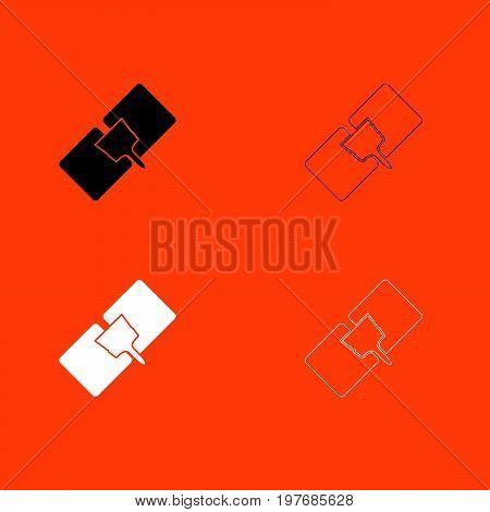 Drywall Repair  Black And White Set Icon .