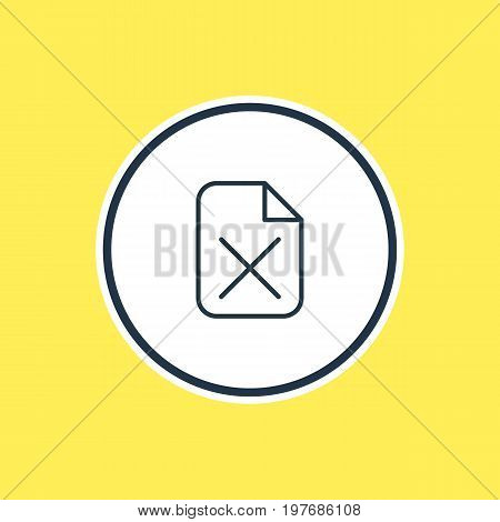 Beautiful Workplace Element Also Can Be Used As Remove  Element.  Vector Illustration Of Delete Outline.
