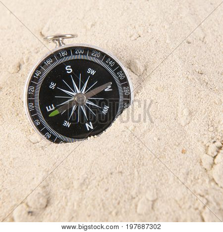 Navigation with compass while travel around the world