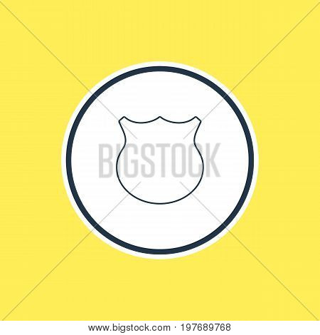 Beautiful User Element Also Can Be Used As Guard Element.  Vector Illustration Of Shield Outline.