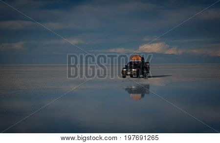 Uyuni, Bolivia- March 25, 2017: Salar de Uyuni Bolivia