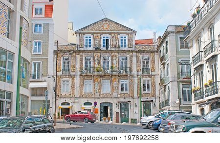 The Mansions In Chiado Of Lisbon