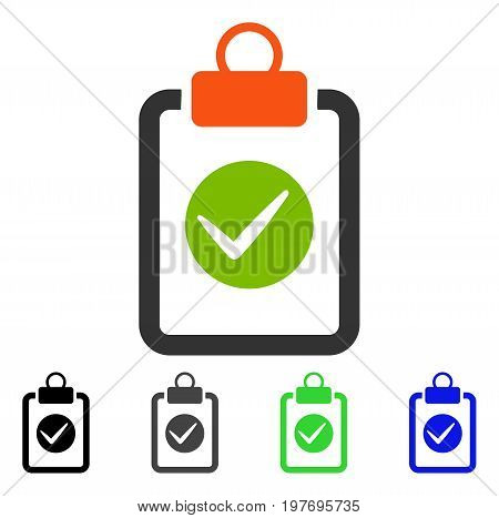 Pad Confirmation flat vector pictogram. Colored pad confirmation gray, black, blue, green icon variants. Flat icon style for graphic design.