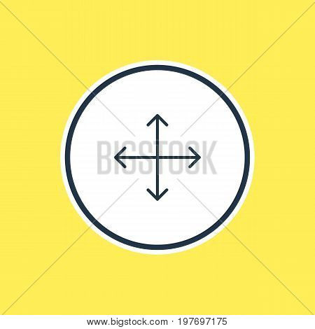Beautiful Navigation Element Also Can Be Used As Navigation Element.  Vector Illustration Of Arrow Outline.