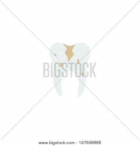 Flat Icon Caries Element. Vector Illustration Of Flat Icon Decay Isolated On Clean Background